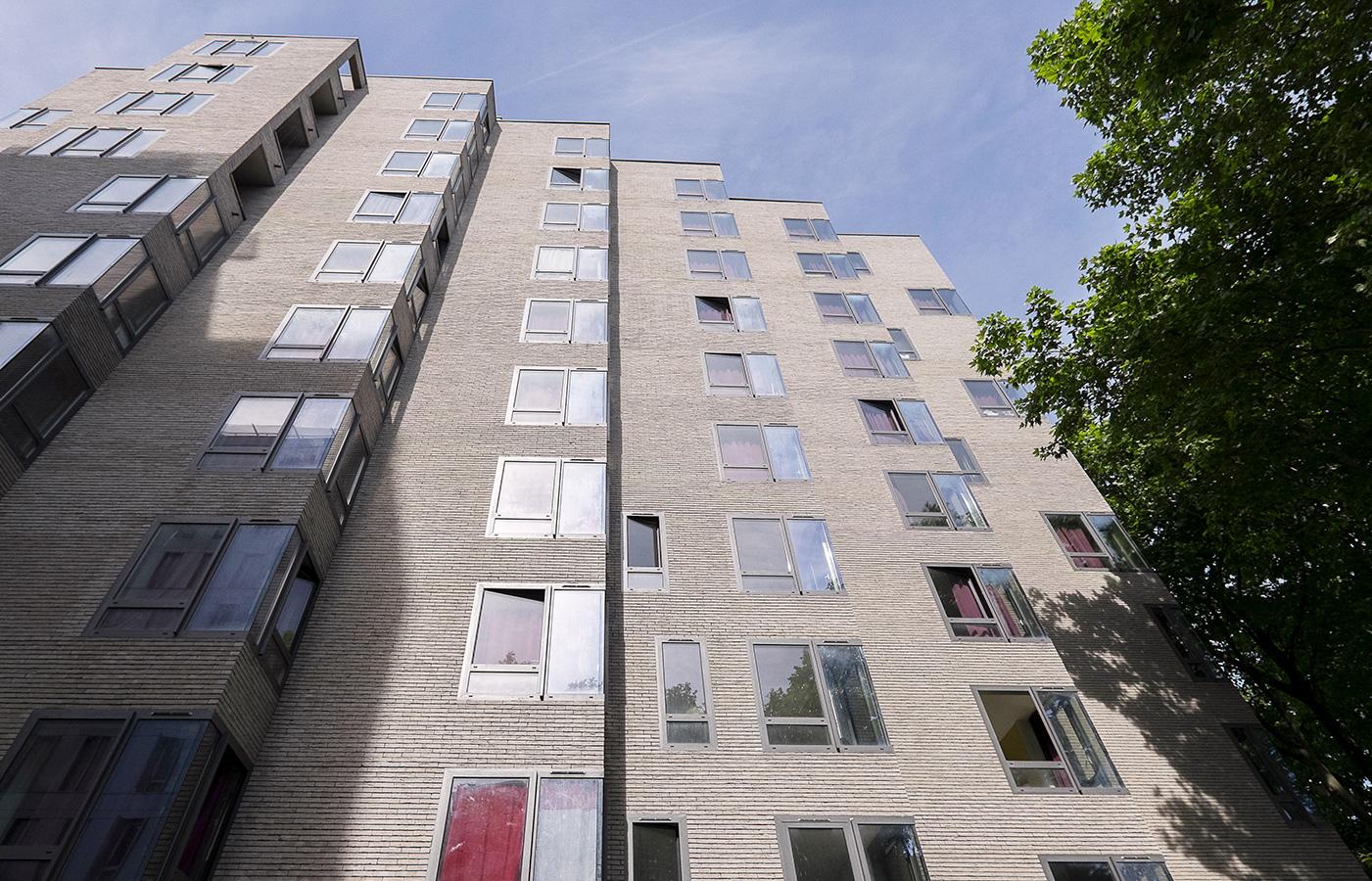 La façade d'un logement social